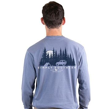 Simply Southern Outdoors Unisex Comfort Colors Long Sleeve T-Shirt