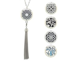 Essential Oil Aromatherapy Diffuser Necklace with Tassel