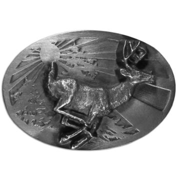 Sports Accessories - Whitetail Deer Antiqued Belt Buckle