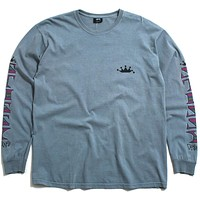 Irie Stussy Pigment Dyed Longsleeve T-Shirt Slate