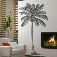 Vinyl Wall Decal Sticker Coconut Palm Tree #237