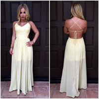 Timeless Beauty Crochet Maxi Dress - Sun Yellow