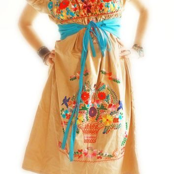 Mexican vintage style for dresses or shirts by AidaCoronado
