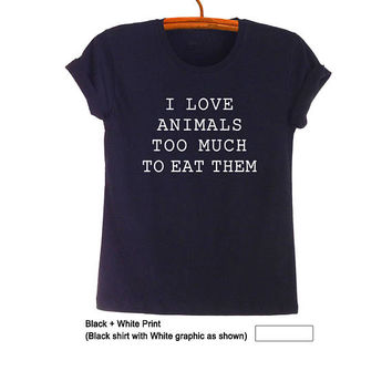 Fresh Tops Funny Animal Shirts Tumblr Unisex Graphic Tee Animal Rescue T Shirts Cute Vegan Tee Shirts Animal Lover Gifts Clothing