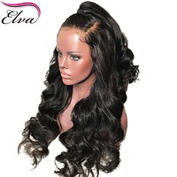"""Hair 180% Density 360 Lace Frontal Wig Pre Plucked With Baby Hair 10""""-22"""" Body Wave Natural Color Brazilian Remy Hair Wigs"""