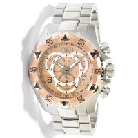 Invicta 11006 Men's Reserve Excursion Rose Gold Tone Bezel Textured Rose Gold Tone Dial Chronograph Stainless Steel Dive Watch