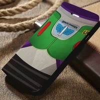 Disney Buzz Toy Story Custom Wallet iPhone 4/4s 5 5s 5c 6 6plus 7 and Samsung Galaxy s3 s4 s5 s6 s7 case