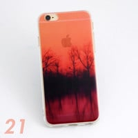 Beautiful Lake Dawn Sunrise Scenery Print Soft TPU Transparent Phone Back Case Cover Shell For iPhone 5 5S 6 6s 6 Plus 6s Plus 7