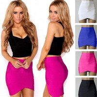 New Women Skirt Summer Sexy Women Clothing High Waist Elastic Work Party Cocktail Slim Pencil Mini Skirt = 5739013377