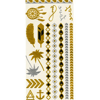 Metallic Temporary Tattoo Set