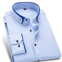Stylish Long Sleeve Patchwork Button-up Shirts
