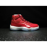 Nike Air Jordan Retro Chicago Air Jordan 11 ¡°Win Like 96¡± Gym Red/Black-White 378037-623