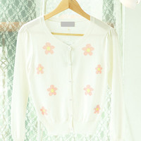 Long Sleeve Floral Embroidered Cardigan