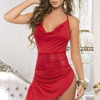 Lingerie, Sexy Red Babydolls, Sexy Red Lingerie, Satin Babydolls, Holiday Lingerie