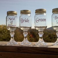 Redneck Wine Glass Wedding Set
