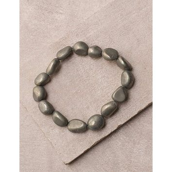 Pyrite Bead Bracelet -As-Is-Clearance