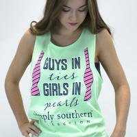 Ties and Pearls Simply Southern Tank