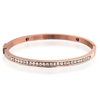 Bling Jewelry Pink Steel Bangle