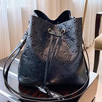 LV New fashion monogram leather shoulder bag crossbody bag handbag Black