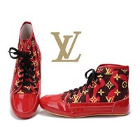 LV Women Casual High-Top Sneakers Sport Shoes