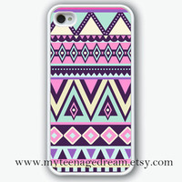 iphone 4 case, aztec iPhone 4s Case, iphone case 4s, Aztec Pattern Print iphone white hard case for iphone 4, iphone 4S