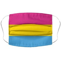 Pansexual Flag Face Mask Cover