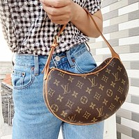 LV Louis Vuitton Popular Retro Women Shopping Leather Handbag Tote Shoulder Bag Crossbody Satchel