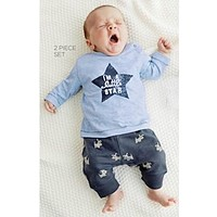 New 2016 Baby Boy Clothes Cotton Baby Rompers Newborn T-shirt+pants  Baby Boy Clothing Jumpsuit Infant