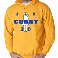"""Golden State Warriors Steph Curry """"AIR CURRY"""" Hooded Sweatshirt ADULT XL"""