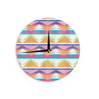 "Miranda Mol ""Triangle Waves"" Geometric Pattern Wall Clock"