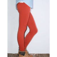 In For The Night Rust Fleece Leggings