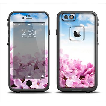 The Blue Sky Pink Flower Field Apple iPhone 6 LifeProof Fre Case Skin Set