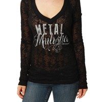 Metal Mulisha Women's Ambition Burnout Long Sleeve Top