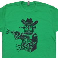 Toy Robot T Shirt Cowboy Robot Shirt Vintage Science Fiction Shirt