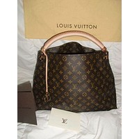 LV Louis Vuitton Fashion Women Shopping Bag Leather Tote Handbag Satchel Bag