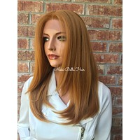 Auburn Brown Hair Swiss Lace Front Wig -  Braelyn