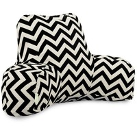 Black Chevron Reading Pillow