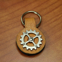 Steampunk gear key fob