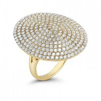 Dana Rebecca Designs Carly Michelle Large Pave Diamond Disc Cocktail Ring