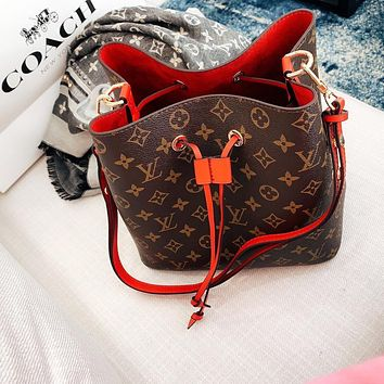 LV Louis Vuitton Fashion Women Shopping Leather Bucket Bag Crossbody Satchel Shoulder Bag