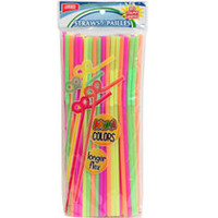 Bulk The Home Store Neon-Colored Super Flexible Straws, 8-ct. Packs at DollarTree.com