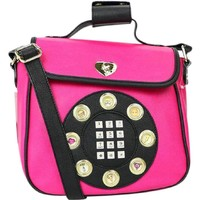Betsey Johnson Phone Fuschia Crossbody