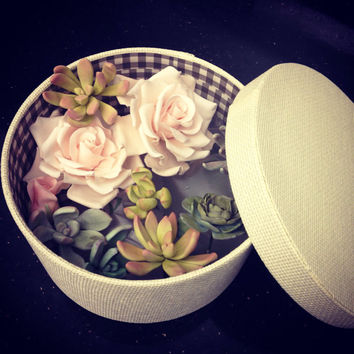 Wedding cake Edible Sugar Flowers,Assorted Roses and Succulents, Wedding Cake Topper,Wedding Gifts