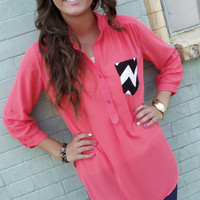 Hot Mess Tunic - Coral | The Rage