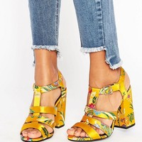 New Look Summer Brocade Heeled Platform Sandal at asos.com