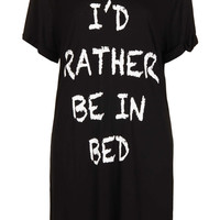 Rather Be In Bed PJ Tee - Topshop