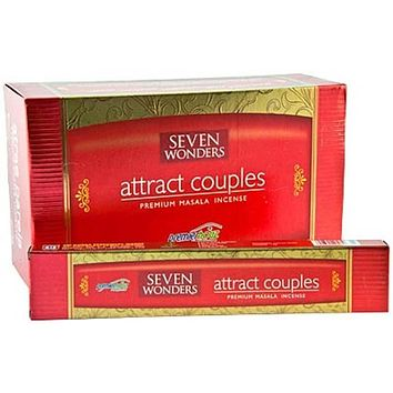 Seven Wonders Attract Couples Incense - 15 Gram Pack (12 Packs Per Box)
