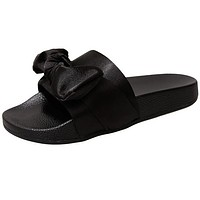Bow Silk Slides