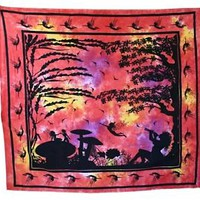 Fairy Wonderland Whimsical Goddess Tapestry Wall Hanging Decor  Free Shipping