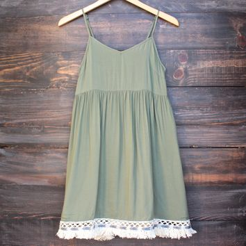 hunter green boho dress